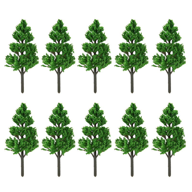 10pcs/set 7 Size DIY Model Trees Architectural Models Railroad Layout Garden Landscape Scenery Toys Gifts Toys For Kids