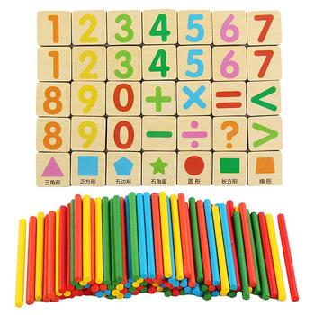 Colorful Bamboo Counting Sticks Toy Mathematics Montessori Teaching Aids Counting Rod Kids Preschool Math Learning Toy
