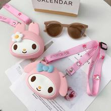 Cute Cartoon My Melody Coin Purses Silica Gel Women Portable Coin Wallet Creative Girls New Style Crossbody Bag Fashion Handbags