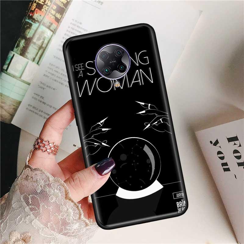 Black Tpu Capa For Xiaomi Mi Note 10 9T Pro 5G Poco F2 X2 F1 CC9 9 SE A3 A2 Lite Fundas Soft Cases Feminist Girl Funny