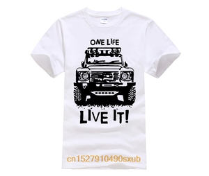 Landrover Defender 90 110 One Life Live It Off Road Land Rover Mens T Shirt
