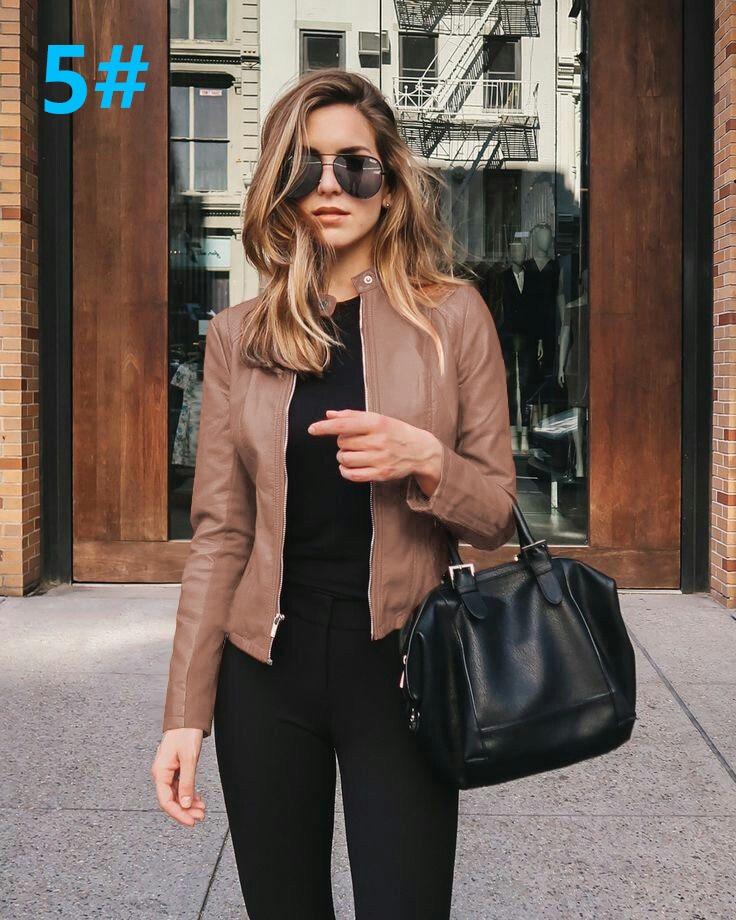 H937e1afea2d3442790554c65f331b31en 2021 Women Winter Coat Jacket Thicken Fashion Long sleeve Outwear PU Leather Jacket warm Coats For Women Autumn Women's Clothing