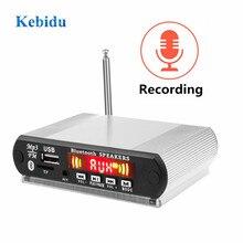 Kebidu handfree chamada mp3 wma decodificador placa módulo de áudio usb tf rádio música bluetooth mp3 player registros controle remoto