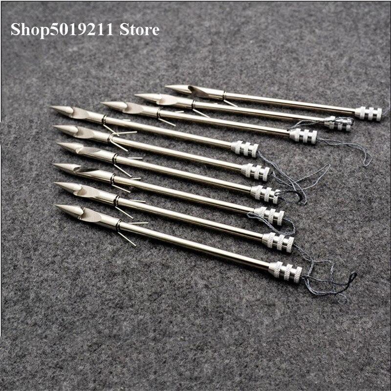 Hot sale 10pcs de pesca de aço inoxidável estilingue flecha flecha bala cabeça flecha de caça tiro habilidade dardos