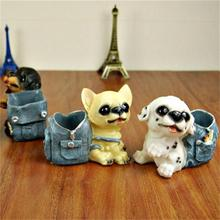 VIERUODIS Creative Desktop Decoration Puppy Pencil Storage Tube Bathroom Pencil Storage Tool Student Birthday Gift Color Random