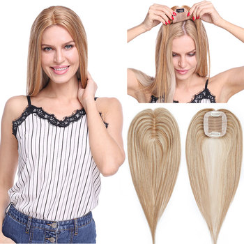 SEGO 6x9cm Straight Hair Topper 100% Real Human Hair Wig Small Toupee For Women Hairpieces Non-remy Indian Hair 110% Density sego 7x8cm straight mono base hair topper non remy human hair pieces for women toupee hair clips in 100% human hair