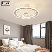 50cm LED Ceiling Fan with Light APP Smart Remote Control Lamp Fans Bedroom Modern Children Home Restaurant 57W Three Color Light