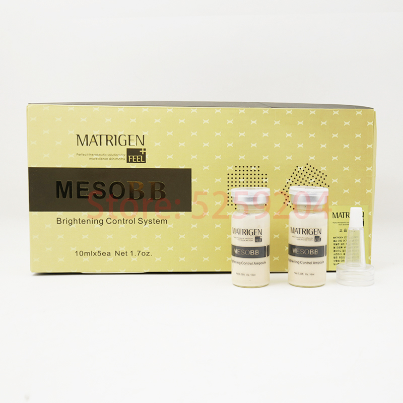 5pcs/box 10ml Korean Cosmetics MesoBB Serum Cream GLOW Ampoule Whitening Serum Starter Kit BB Treatment Meso Dermawhite Make Up