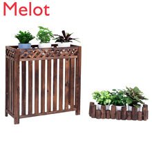 Air conditioner outside machine rack flower stand decoration balcony outdoor outdoor host shelter air conditioner outer cover an