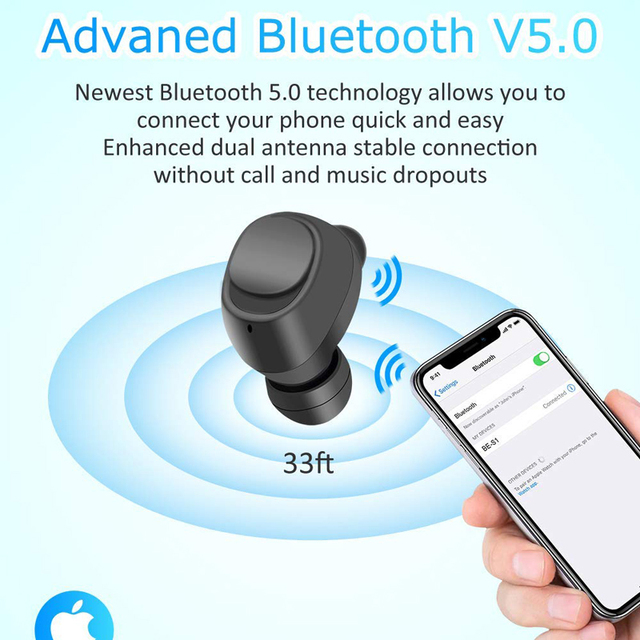 Basspal S1 TWS Wireless Earbuds IPX7 Waterproof Bluetooth 5.0  Sports in-Ear Earphones With 2200mAh Rechargeable Case 5