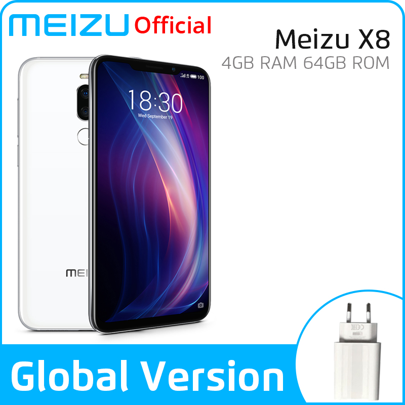 Meizu X8 4GB 64GB Global Version SmartPhone Snapdragon 710 Octa Core Mobile Phone Front 20MP Camera Fingerprint