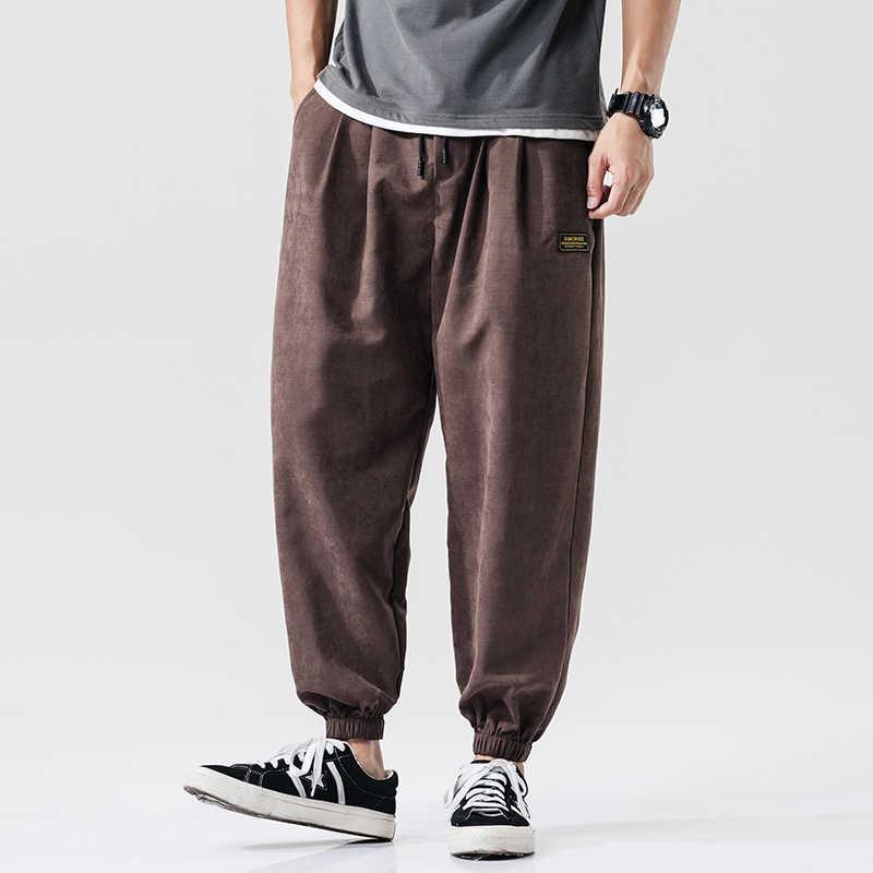 2020 春夏ゆるいカジュアルパンツ男性弾性ウエスト足首までの長さのハーレムパンツ男性スウェットパンツストリート着用