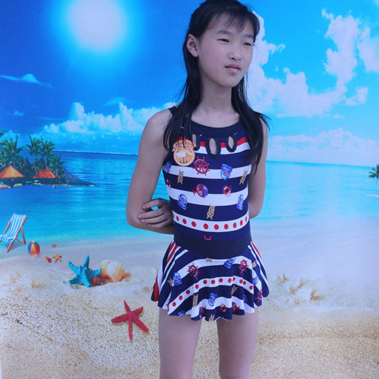 Korean-style Princess Bikini CHILDREN'S Swimwear GIRL'S Swimwear Middle And Large Girls Dress-Swimming Suit