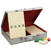 Wear resistant Household Hand rubbing Mahjong Board Games for Adults Gold Mahjong Entertainment