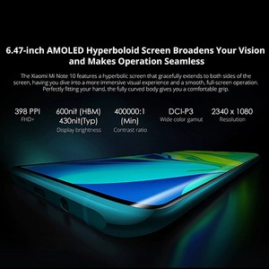 Image 4 - הגלובלי גרסת שיאו mi Mi הערה 10 6GB RAM 128GB ROM Smartphone 5260mAh סוללה 108MP אחורי מצלמה תשלום מהיר חכם טלפון נייד