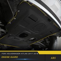 For Volkswagen VW Atlas 2017 2019 Car Engine Shield Mudguard Under Cover Protector Board with Screws Exterior Parts