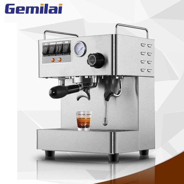 Полностью автоматическая кофемашина для эспрессо, 3000 Вт, 15 бар, Паровая кофеварка для итальянского кофе с давлением, кофемашина