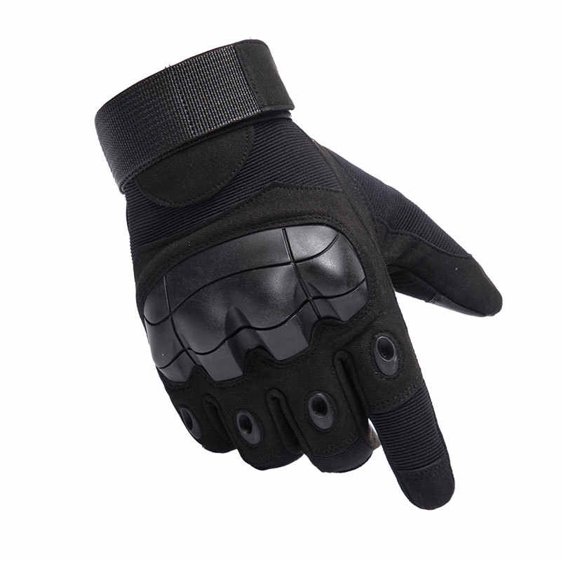 Mens Tattico Militare Completa FingerGloves Duro Knuckle Guanti per la Ripresa Airsoft Moto Guanti All'aperto