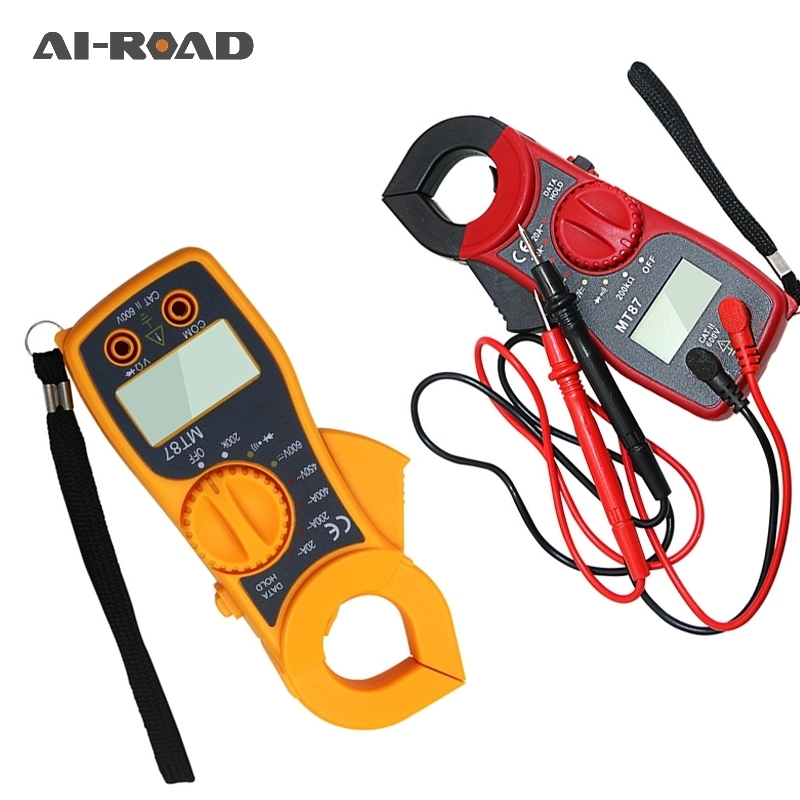 MT87 Digital Clamp Meter Multimeter DC AC Voltage Current Tongs Resistance Amp Ohm Tester Non Contact Multimeter