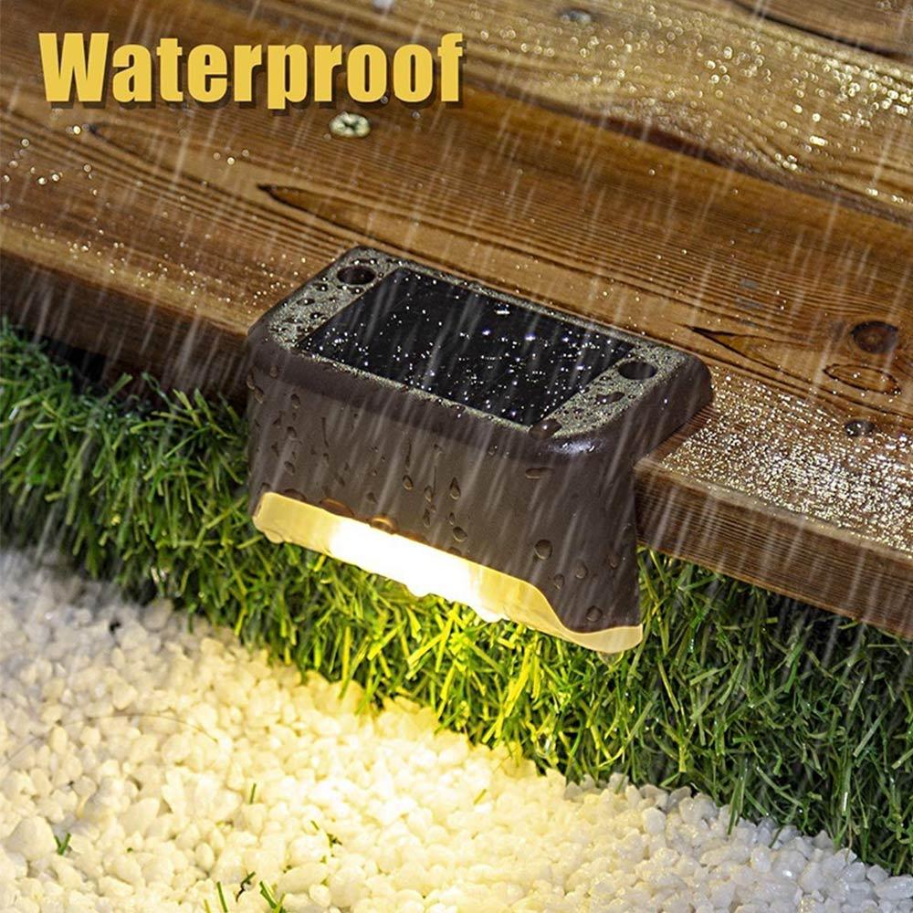 L Type Deck Lights LED Solar Walkway Lights Building Light Wall Lamp Waterproof Stair Ground Embedded Lighting Home Outdoor IP68