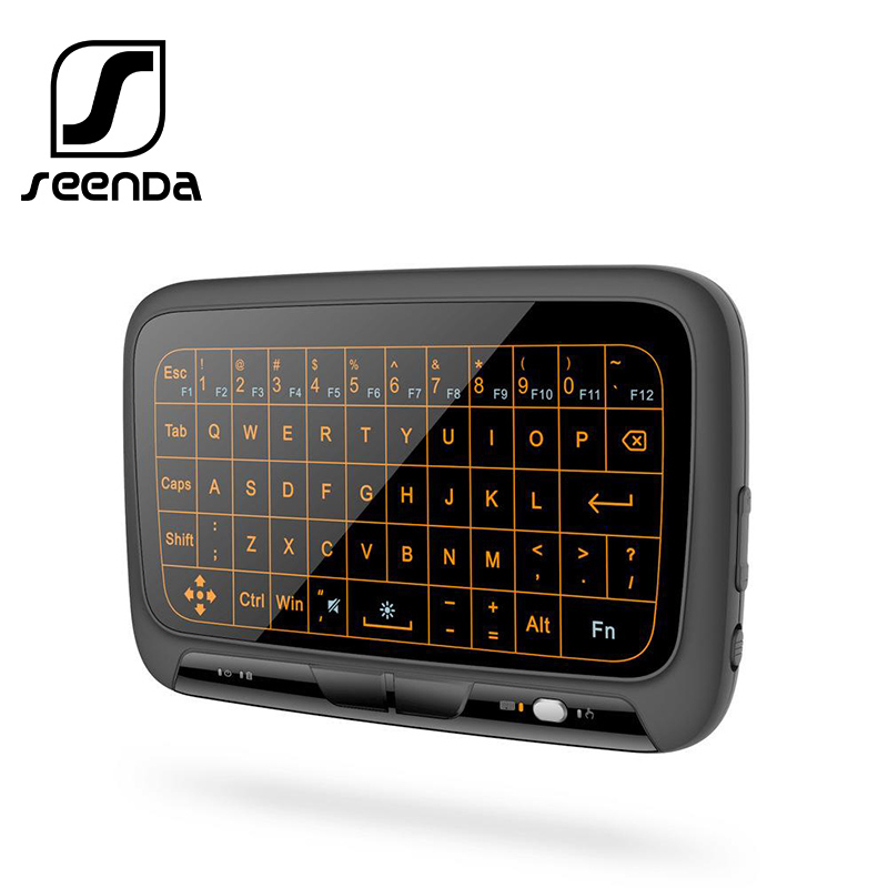 SeenDa Mini 2.4G Wireless Keyboard Backlight Touchpad Air Mouse IR Leaning Remote Control For BOX Smart TV Android IOS Windows