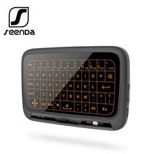 Gündem Mini 2.4G kablosuz klavye arka işık Touchpad hava fare IR öğrenme uzaktan kumanda kutusu akıllı TV Android iOS windows