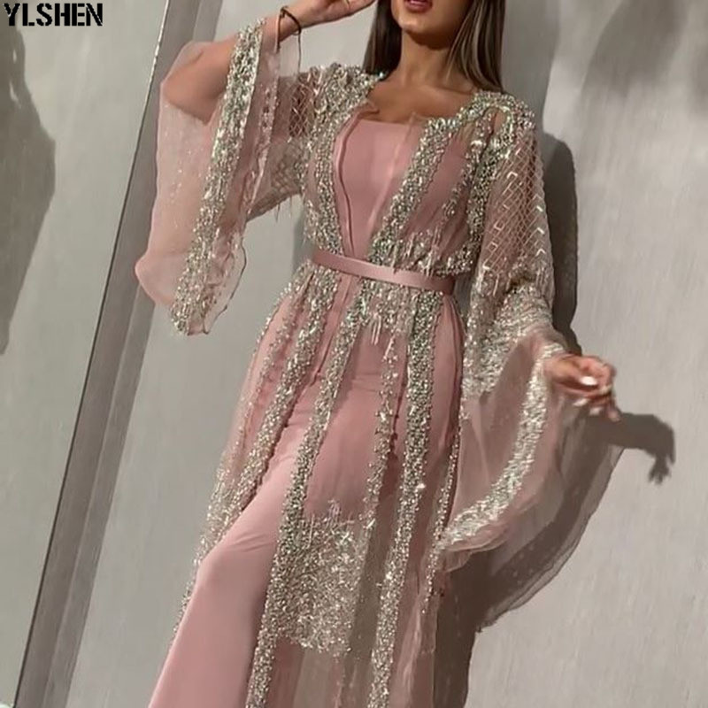 2 Piece Set African Dresses for Women Dashiki Hot Stamping Africa Dress African Clothes Abaya Dubai Muslim Dress islam Clothing 01