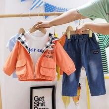New Children Girls Boys Clothing Suit Autumn 3pcs/sets Infan