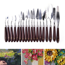 Professional Stainless Steel Painting Palette Knife Oil Paint Spatula 18 Sizes Tool Mixing Scraper Art