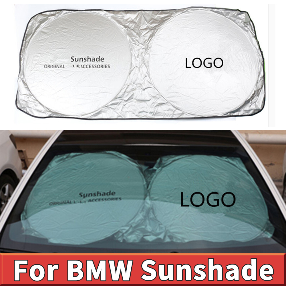 For BMW M logo E90 E60 F30 F10 F25 X5 E70 E71 E92 X1 X3 X6 F01 auto parasol car accessories window sunshade sun protector shade image