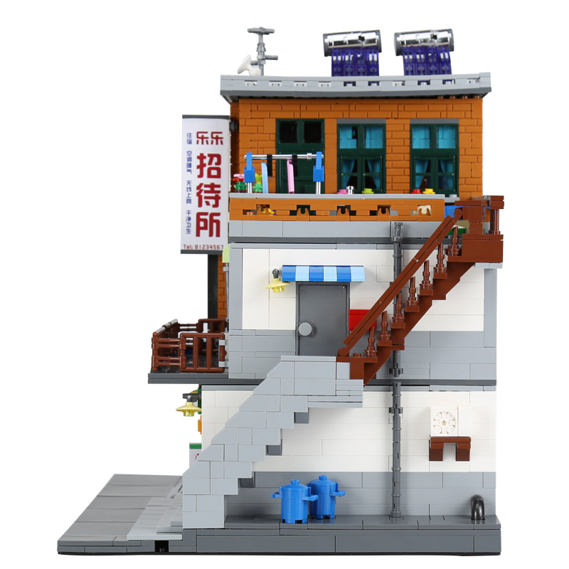 DHL Chinese MOC City Building Toys Series The Urban Village Set Building Blocks Bricks Educational Christmas Toys Model Gift
