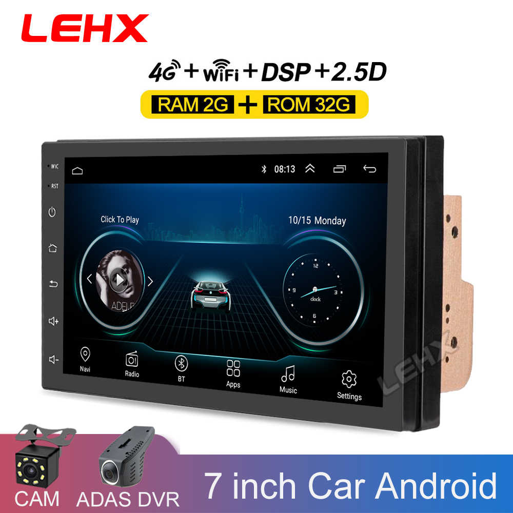 7''car Android 9.0 Car Radio Stereo Gps Navigasi Bluetooth USB 2 DIN Touch Mobil Multimedia Player Audio Player Autoradio Terbaik