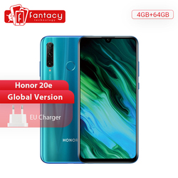 Глобальная версия Honor 20e 20 e мобильный телефон Kirin 710 Octa Core 6,21 ''4 Гб 64 Гб 24MP тройной камеры смартфона Google Play