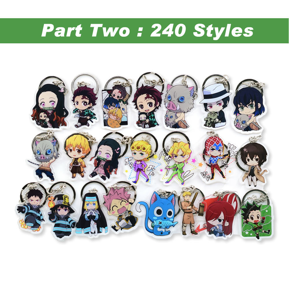 Hot Sales Anime Key Chain Demon Slayer Chibi Keyring 1 Pcs High Quality Cartoon Keychain Accessories Charms Acrylic Pendant