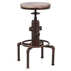 Винтажные вращающиеся барные стулья регулируемая высота промышленный стул для паба деревянное сиденье кухонные обеденные стулья барные с...