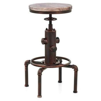 Vintage Swivel Zähler Barhocker Einstellbare Höhe Industrielle Pub Stuhl Holz Sitz Küche Esszimmer Stühle Barhocker