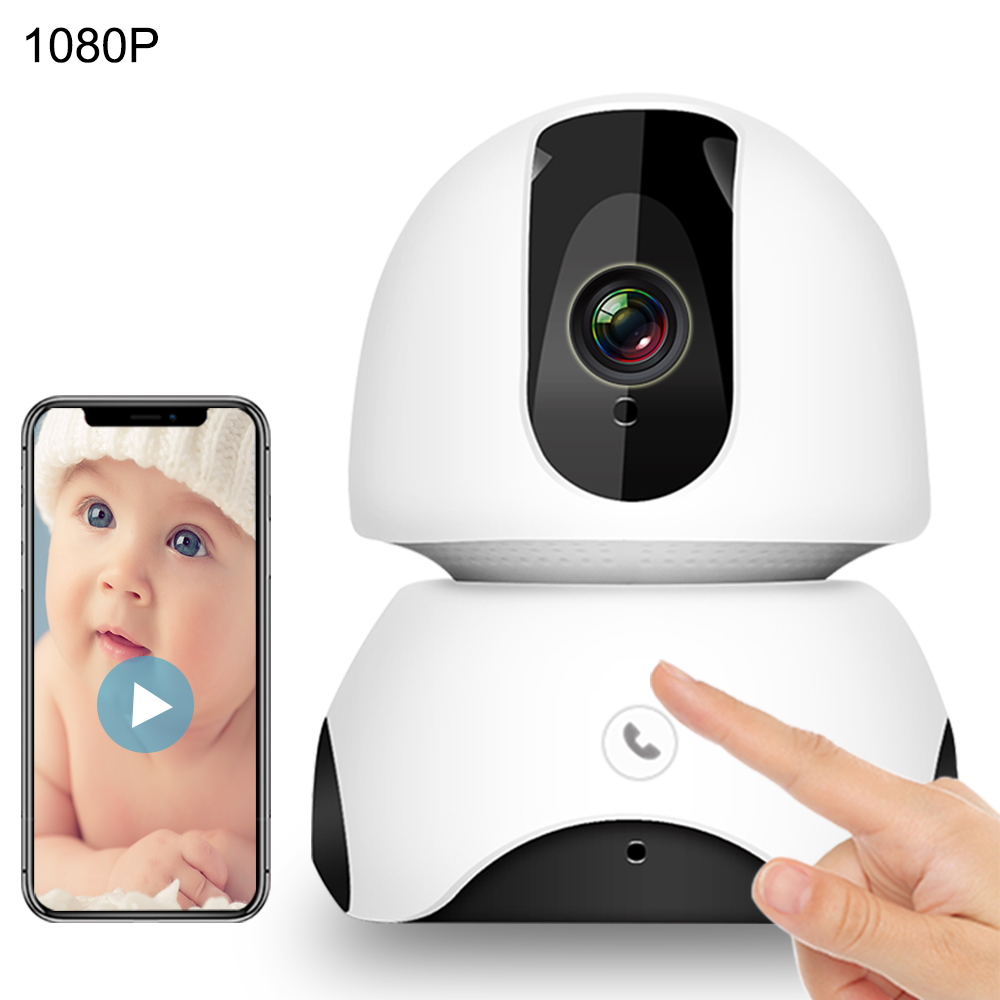 WiFi Baby Monitor 2MP HD Baby Sleep Monitor Nanny Night Vision  Auto Tracking One-touch Call Two Way Audio Intercom Baby Phone