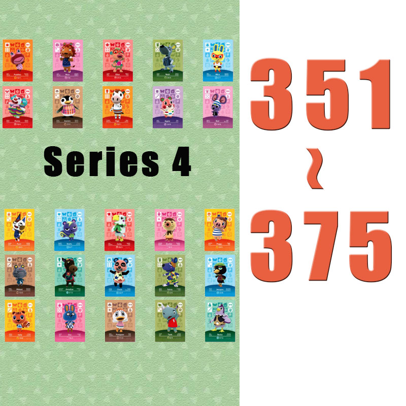 (351 To 375) Animal Crossing Card Amiibo Printed NFC Card Compatible Pick From The List