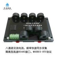 Multicanal 8 Canal AC 20A Transmissores de Freqüência Atual Sensor de Módulo de Aquisição de Medição RS485 MODBUS RTU|Peças e acessórios p/ instrumentos| |  -