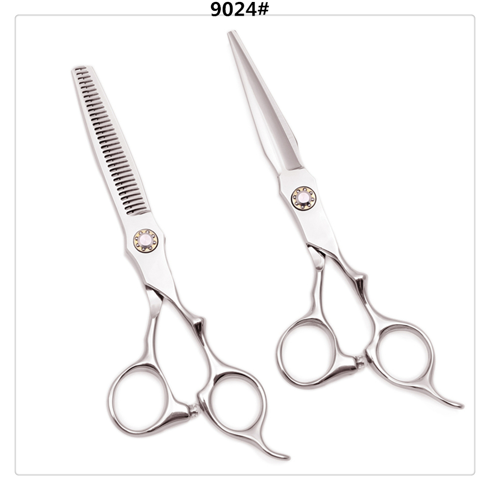 Barber Scissors 6'' Japan 440C Cutting Scissors Thinning Shears Hairdressing Scissors Professional Hair Scissors 2019 New A9024
