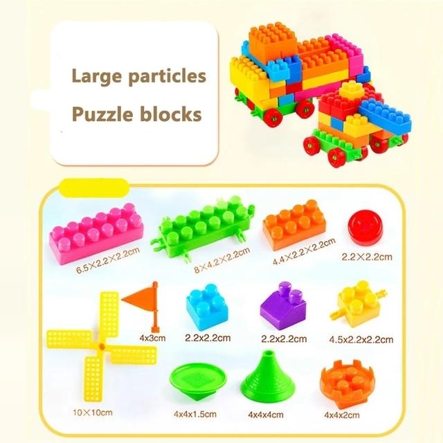 Фото 160 шт/пакет пластиковые детские большие частицы конструкторных цена