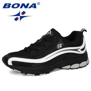 Image 2 - بونا جديد مصمم الاتجاه احذية الجري الرجال رياضية عالية الجودة في الهواء الطلق الدانتيل متابعة أحذية للمشي Zapatillas Hombre مريحة