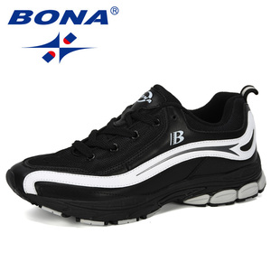 Image 2 - BONA New Designer Trend Running Shoes Mens High Quality Sports Outdoor Lace up Jogging Shoes Zapatillas Hombre Comfortable