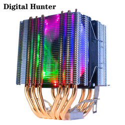 6 heatpipes CPU Cooler radiator Cooling 3PIN 4PIN RGB 1/2/3 Fan For Intel 1150 1155 1156 1366 2011 X79 X99 Motherboard AM2/AM3