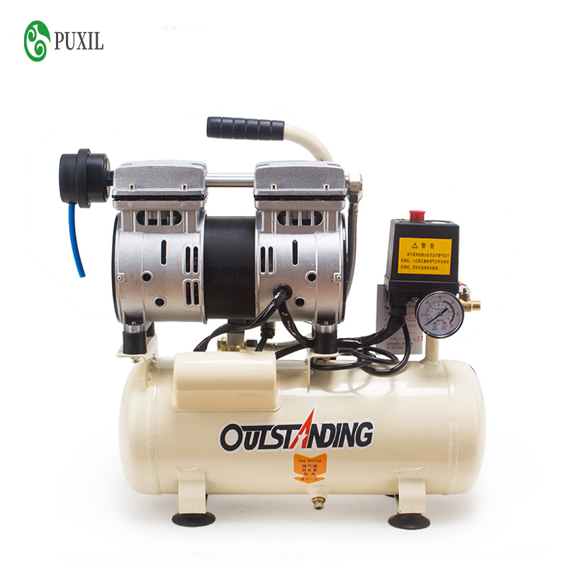 8L Silent Air Compressor Oilless Air Pump Small Dental Air Compressor Carpentry Painting Portable Air Pump