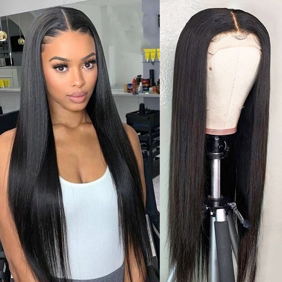 Karizma Straight Lace Front Human Hair Wigs Pre Plucked Hairline 150% Density 13x4 Lace Front Wig Brazilian Wig Remy Hair Wigs