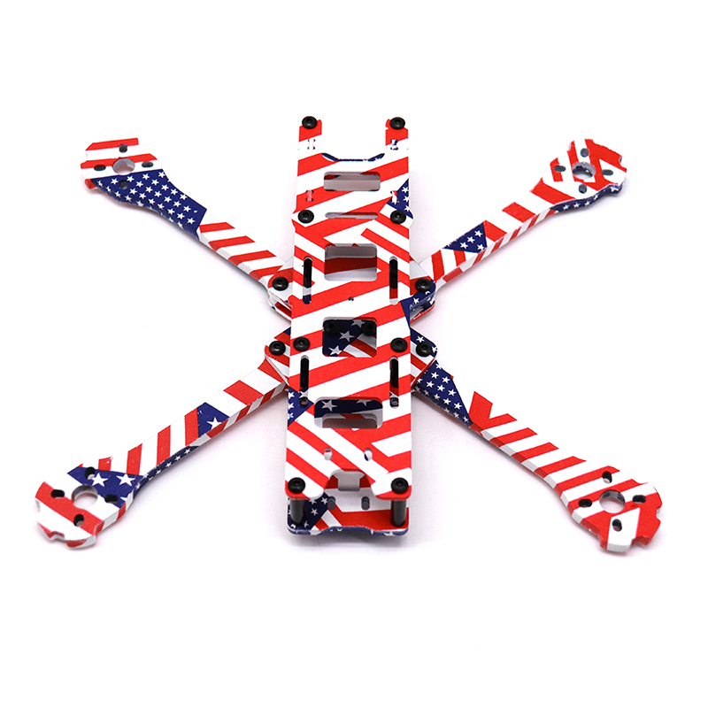 Image 4 - TCMMRC 5 Inch FPV Drone Frame X220HV Star Spangled Banner Printed Frame Kit Wheelbase 220mm Carbon Fiber For FPV Racing Drone-in Parts & Accessories from Toys & Hobbies