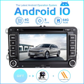 ZLTOOPAI Car Multimedia Player 2 Din Android 10 Car DVD Player For VW/Volkswagen/Golf/Polo/Tiguan/Passat/SEAT/Leon Autoradio image