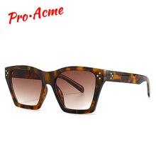 Pro Acme Vintage Square Sunglasses Women 2020 Men Luxury Bra