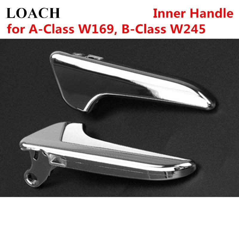 Chromed Car Inner Interior Door Handles for Mercedes Benz A Class W169 B Class W245 Panel Trim Pull Bar Left Right Front Rear|Interior Door Handles|   - title=
